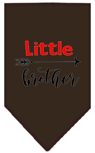 Little Brother Screen Print Bandana Cocoa Large