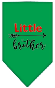 Little Brother Screen Print Bandana Emerald Green Small