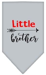 Little Brother Screen Print Bandana Grey Large