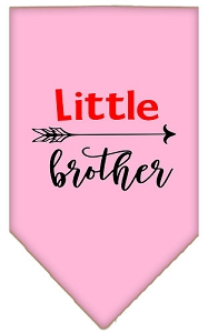 Little Brother Screen Print Bandana Light Pink Small
