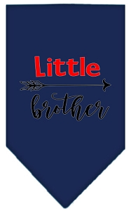 Little Brother Screen Print Bandana Navy Blue Small