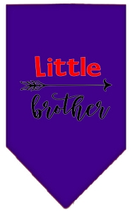 Little Brother Screen Print Bandana Purple Small