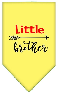 Little Brother Screen Print Bandana Yellow Large