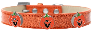 Enamel Pumpkin Halo Dog Collar Orange Ice Cream Size 12