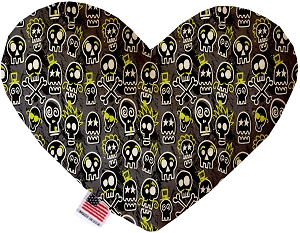 Skater Skulls 6 inch Stuffing Free Heart Dog Toy