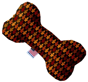 Autumn Leaves 10 inch Stuffing Free Bone Dog Toy