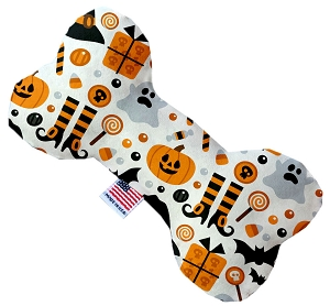 Classic Halloween 8 inch Stuffing Free Bone Dog Toy