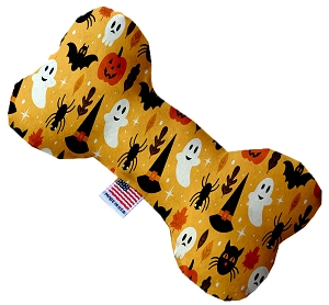 Happy Halloween 10 inch Stuffing Free Bone Dog Toy