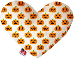 Happy Pumpkins 8 inch Stuffing Free Heart Dog Toy