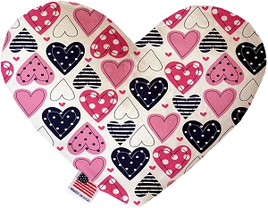 Mixed Hearts  8 inch Heart Dog Toy