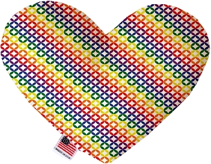 Rainbow Bright Diamonds 8 inch Heart Dog Toy