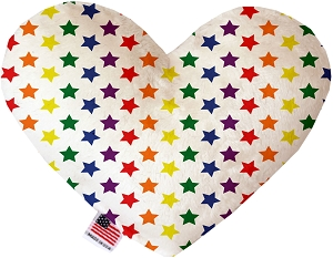 Rainbow Stars 8 inch Heart Dog Toy