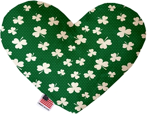 Shamrock 8 inch Heart Dog Toy