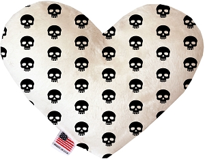 Skulls 6 inch Stuffing Free Heart Dog Toy