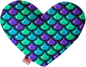 Mermaid Scales 8 inch Heart Dog Toy