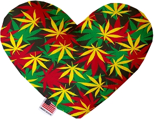 Rasta Mary Jane 6 inch Stuffing Free Heart Dog Toy