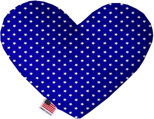 Blue Stars 8 inch Heart Dog Toy