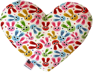 Funny Bunnies 8 inch Heart Dog Toy