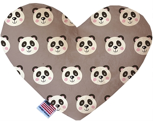 Grey Pandas 6 inch Stuffing Free Heart Dog Toy