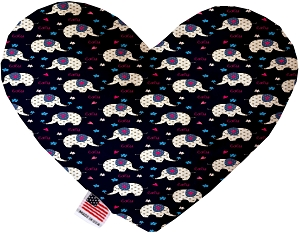 Baby Elephants 6 inch Stuffing Free Heart Dog Toy