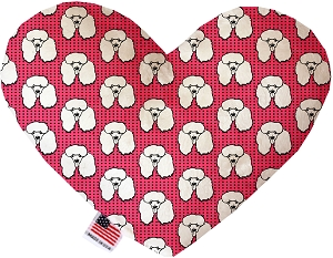 Pretty Poodles 8 inch Heart Dog Toy
