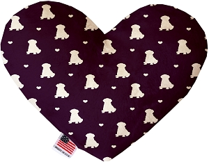 Purple Puppy Love 8 inch Heart Dog Toy
