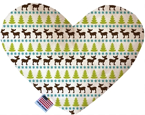 Mountain Moose 6 inch Stuffing Free Heart Dog Toy
