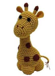 Knit Knacks Louie Longneck the Giraffe Organic Cotton Small Dog Toy