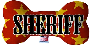 Sheriff Stuffing Free 6 inch Bone Dog Toy