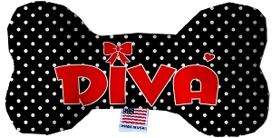 Diva Stuffing Free 6 inch Bone Dog Toy