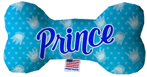 Prince Stuffing Free 8 inch Bone Dog Toy