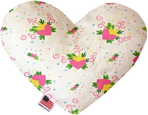 Sweet Love Stuffing Free 6 inch Heart Dog Toy