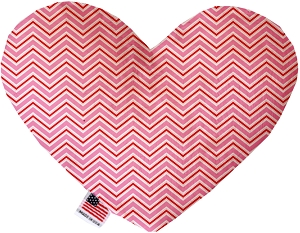 Valentines Day Chevron Stuffing Free 8 inch Heart Dog Toy