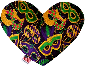 Mardi Gras Masquerade 8 inch Heart Dog Toy