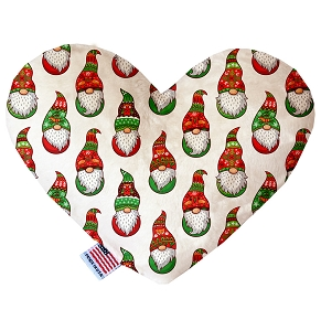 Santa Gnomes 8 inch Heart Dog Toy