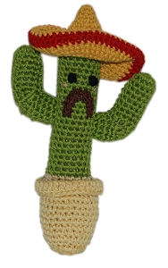 Knit Knacks Cactus Organic Cotton Small Dog Toy