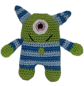 Knit Knacks Monster Organic Cotton Small Dog Toy