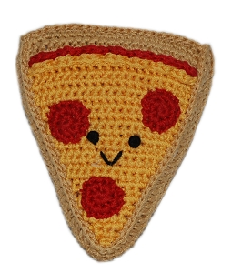 Knit Knacks Pizza Organic Cotton Small Dog Toy