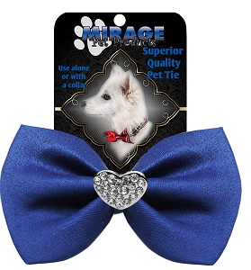 Crystal Heart Widget Pet Bowtie Blue