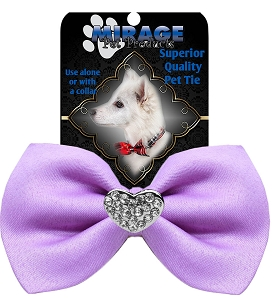 Crystal Heart Widget Pet Bowtie Lavender