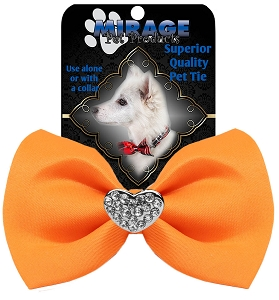 Crystal Heart Widget Pet Bowtie Orange