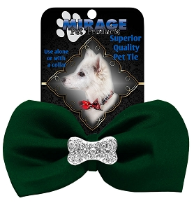Crystal Bone Widget Pet Bowtie Green