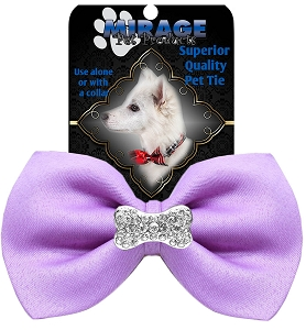 Crystal Bone Widget Pet Bowtie Lavender