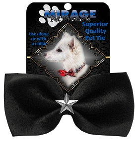 Silver Star Widget Pet Bowtie Black