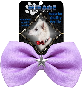 Silver Star Widget Pet Bowtie Lavender