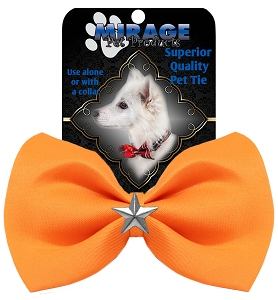 Silver Star Widget Pet Bowtie Orange