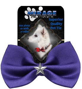 Silver Star Widget Pet Bowtie Purple