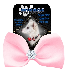 Snowflake Widget Pet Bowtie Light Pink