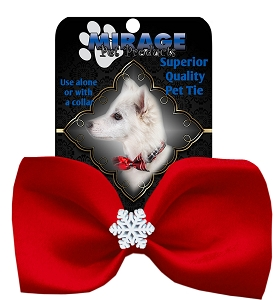 Snowflake Widget Pet Bowtie Red