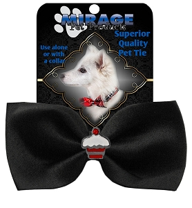 Cupcake Widget Pet Bowtie Black
